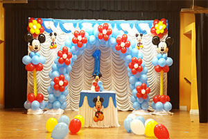 Mickey Mouse Naming Ceremony Theme Decoration -