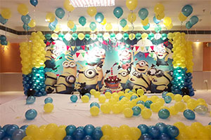 Printed Minions Naming Ceremony Theme Decoration -