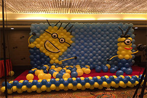 Minion Balloon Wall Naming Ceremony Theme Decoration -
