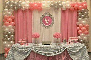 Basic Screen Naming Ceremony Theme Decoration -