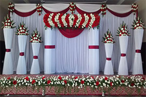 Gerbera Pillars Running Naming Ceremony Theme Decoration -
