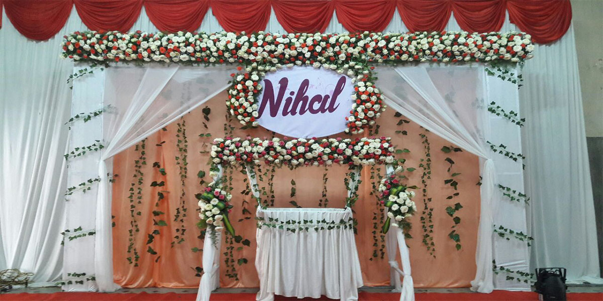 Rose with Show Leaves Naming Ceremony Theme Decoration -