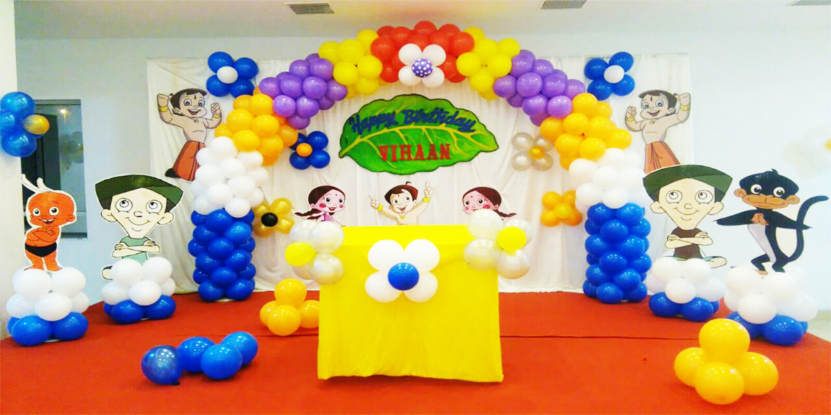Basic Chota Bheem Theme Decoration -