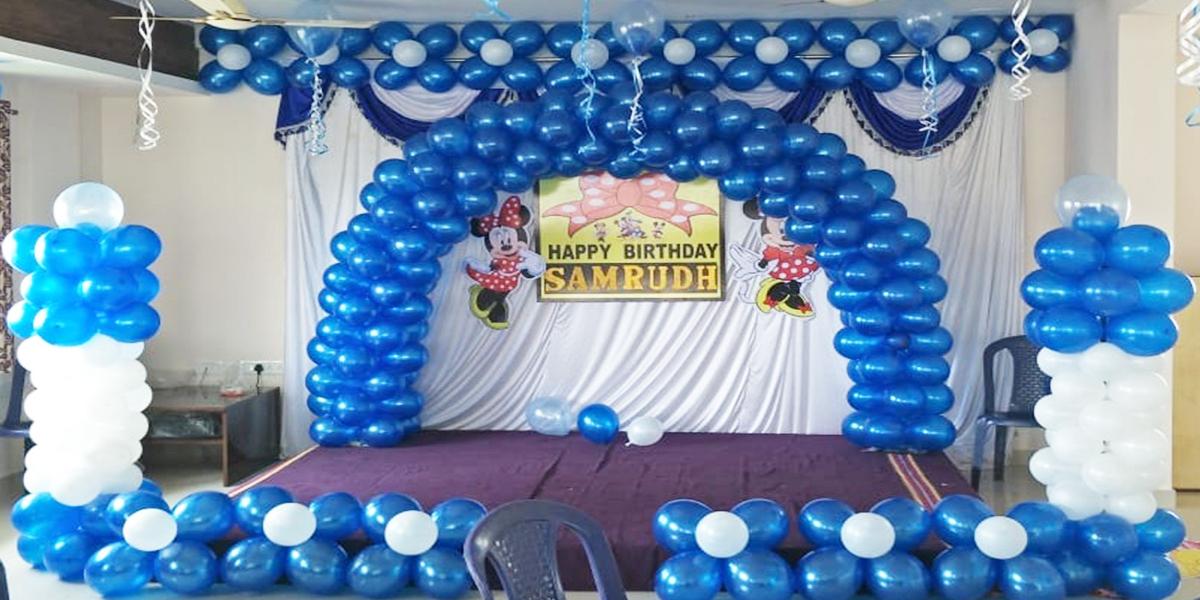 Basic Blue Curtain Decoration -