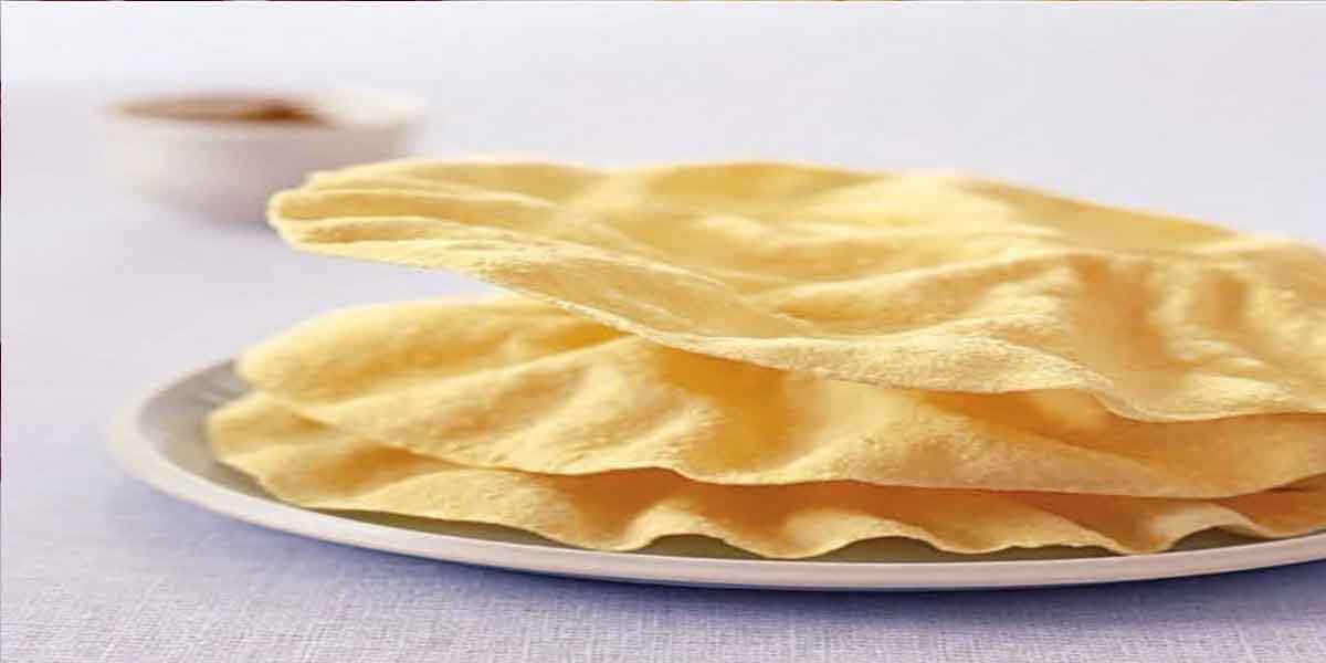 South Indian Menu - Papad