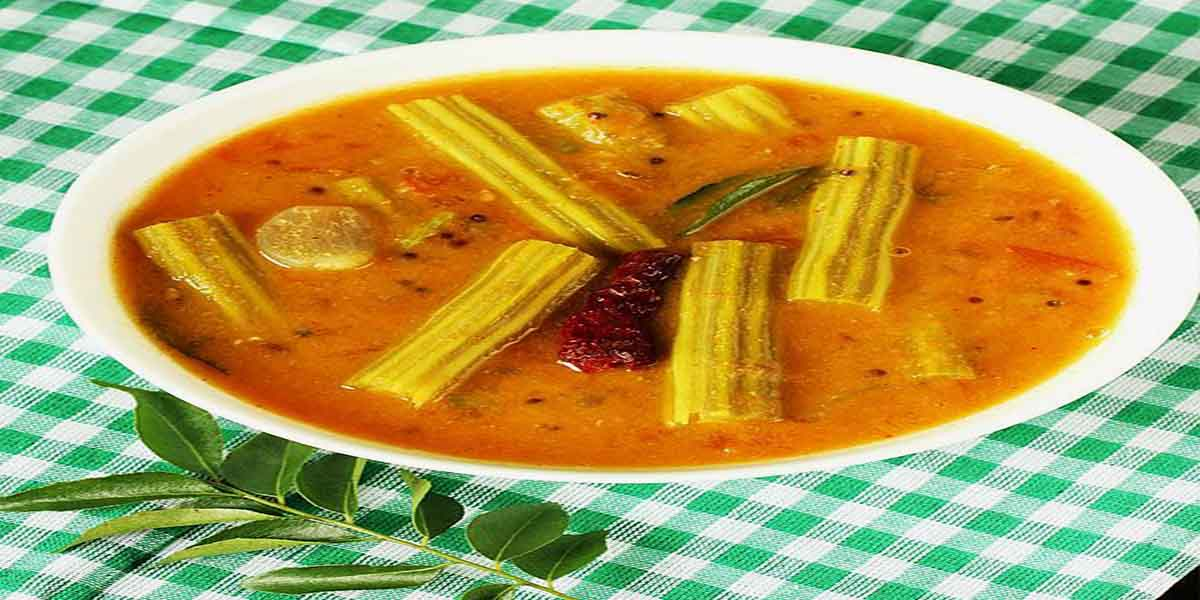 South Indian Menu - Drumstick Sambar