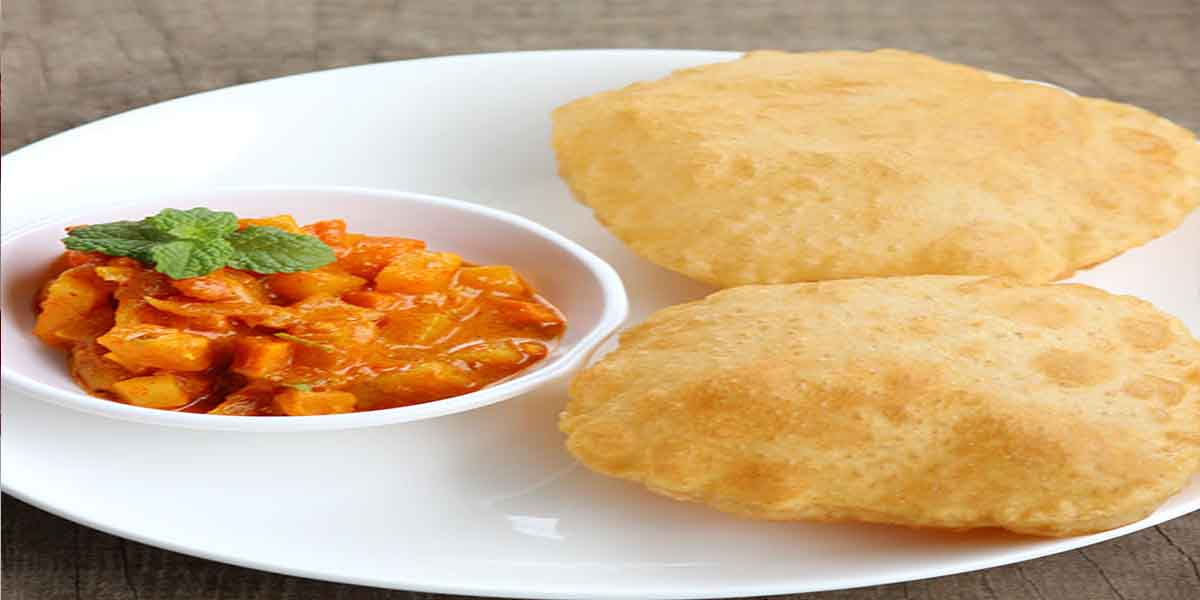 South Indian Menu - Poori