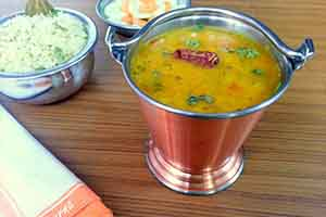 South Indian Menu - Soppu Sambar