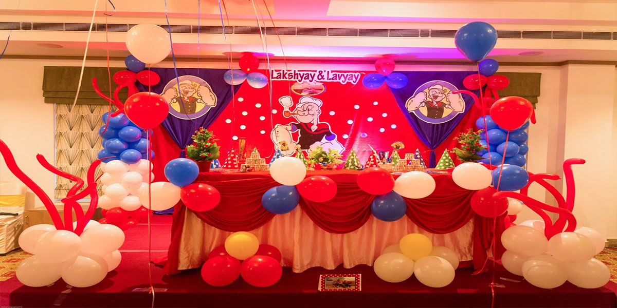 Popeye Birthday Theme Decoration -