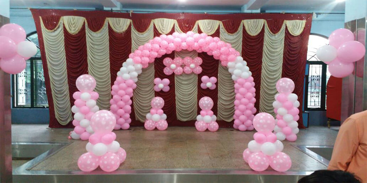 Polka Balloon Theme Decoration -