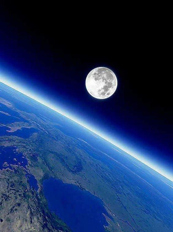 Amazing Shot of the Curve of the Earth and the Moon by crenk