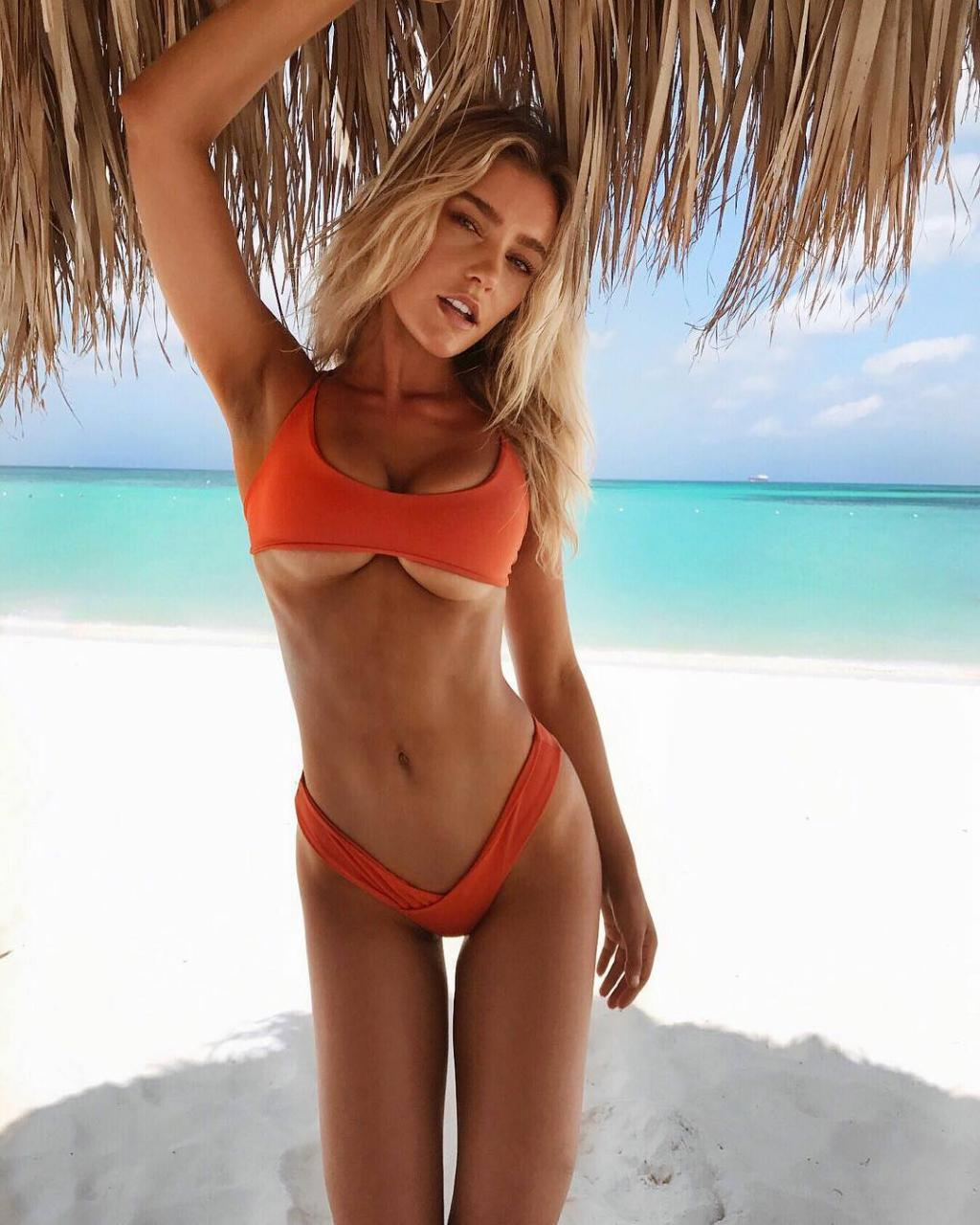 Georgia Mae - in Tiny Orange Bikini on Beach by crenk