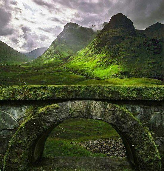 Ancient bridge in Glencoe, Scotland - Such an amazing view of the mountains by crenk