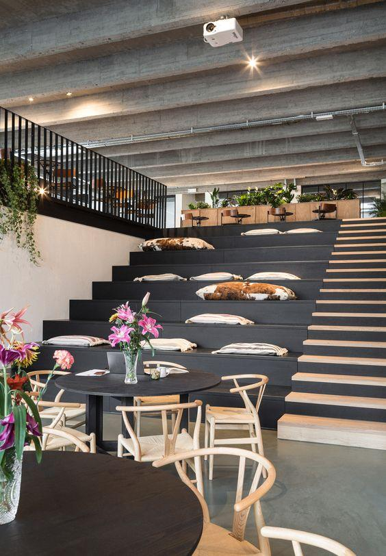 Antwerp co-working space and its amazing steps on stairs by crenk