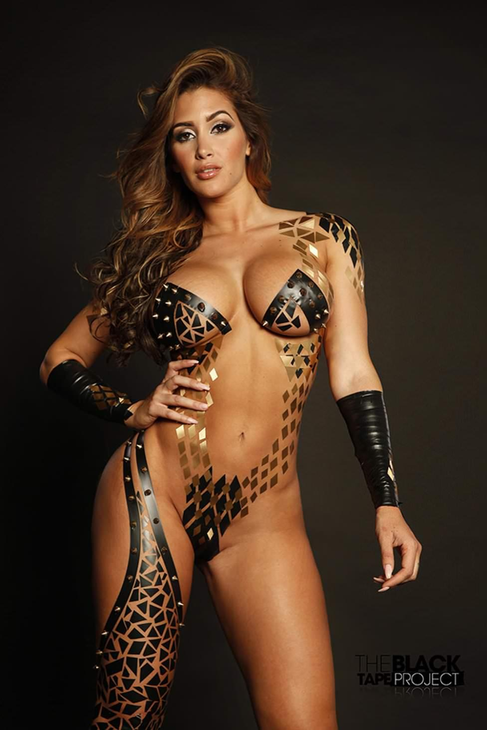 Claudia Sampedro - naked with only bodypaint on by crenk
