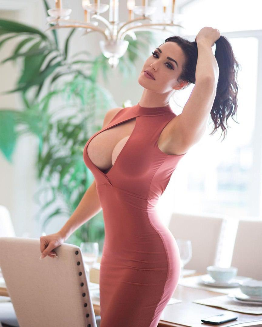 Gia Marie Macool - looking very sexy in tight dress with big cleavage by crenk