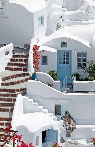 Cycladic houses, Oia, Santorini Island, Greece by crenk
