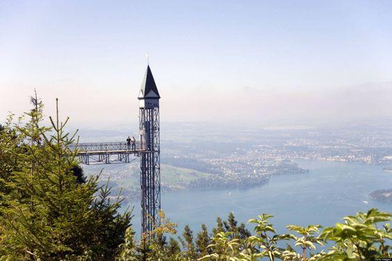 Hammetschwand Elevator in Burgenstock, Switzerland by crenk