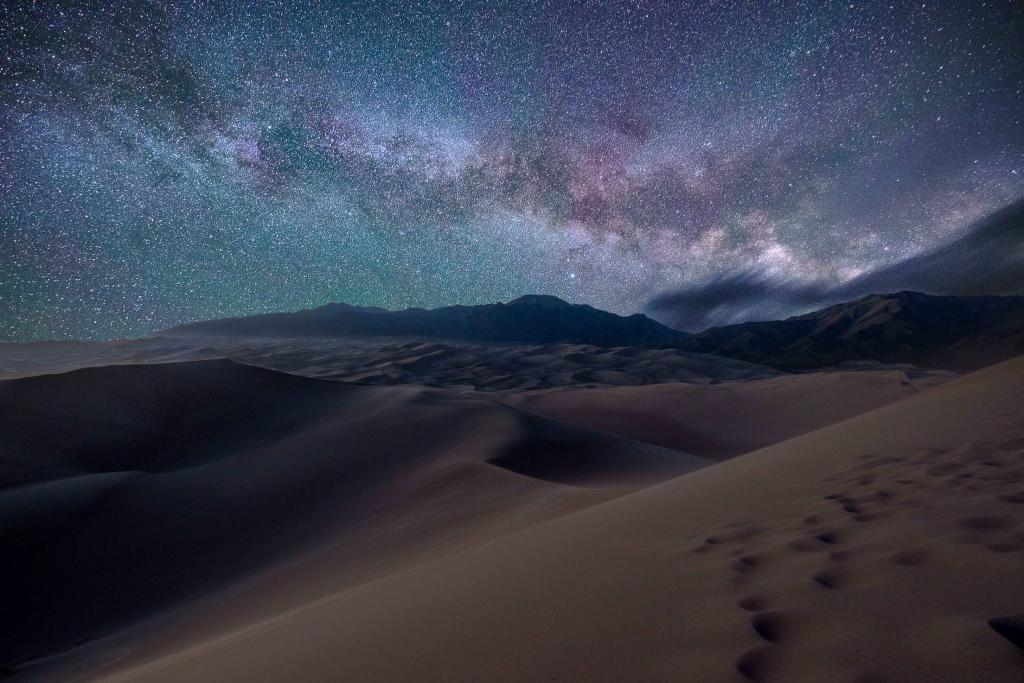 The Milky Way rises over the Great Sand Dunes of Colorado by crenk