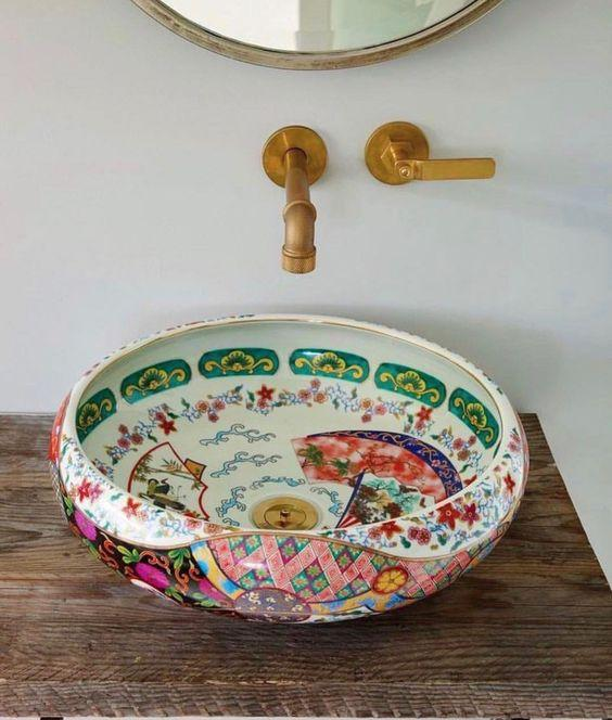 Amazing Moroccan Style Bowl used as a Sink in Bathroom by crenk