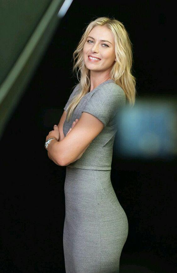 Maria Sharapova in a sexy formal dress by crenk