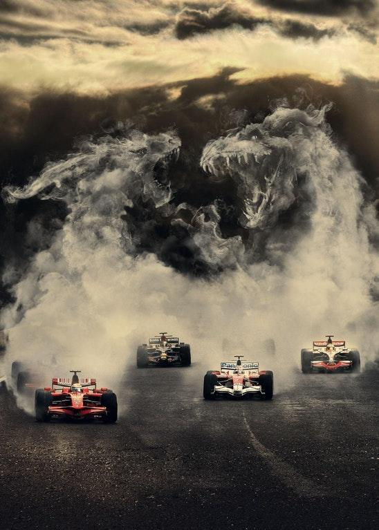 Sky Formula One Poster but without the Text by crenk