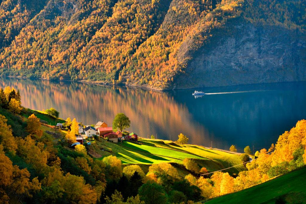 Autumn in Norway on the Lakes in Stunning by crenk
