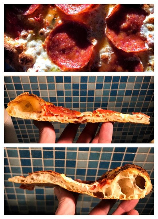 Amazing Homemade Wild yeast, salt-fermented pepperoni pizza by crenk