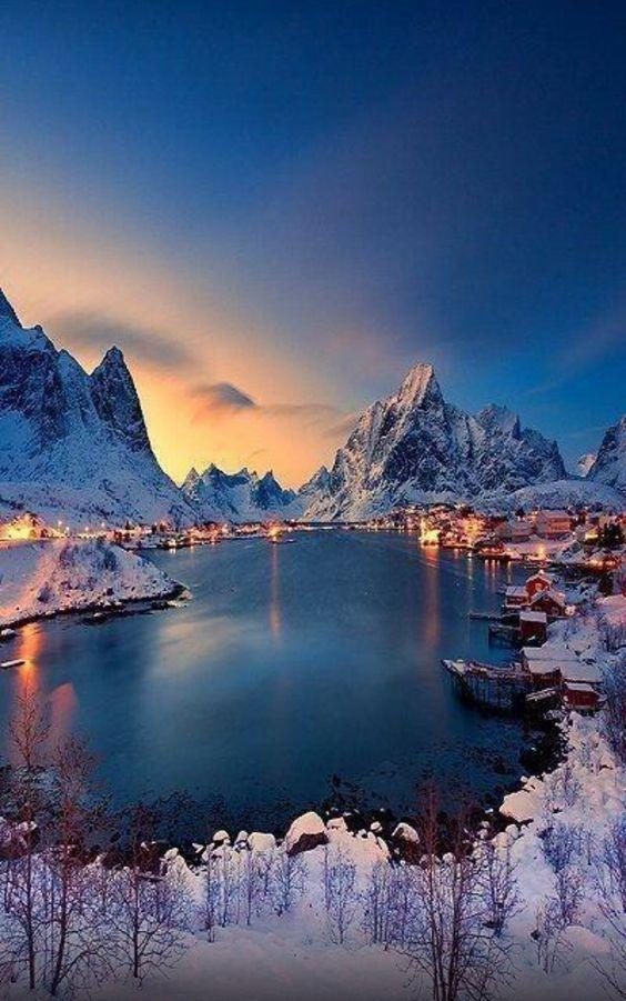 Amazing view of Reine, Norway - across the harbour by crenk