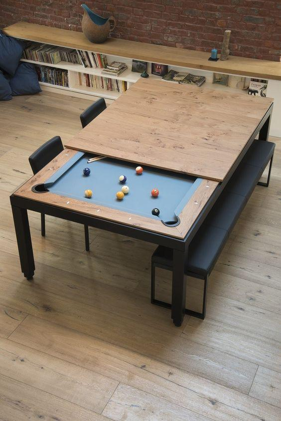 Steel Pool Table - That converts into a dining table by crenk