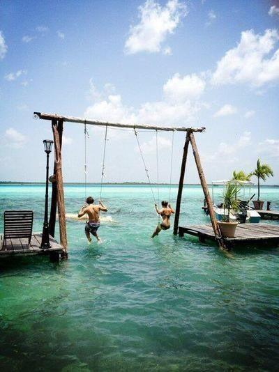 swing into the sea - looking amazingly fun by crenk