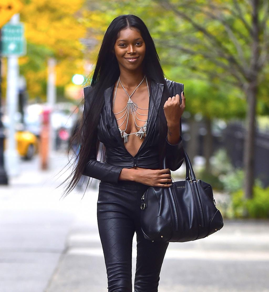 Jessica White Casual outfit out in NYC by crenk