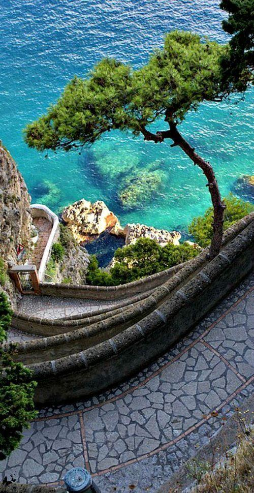 Amazing winding path in Capri, Italy by crenk