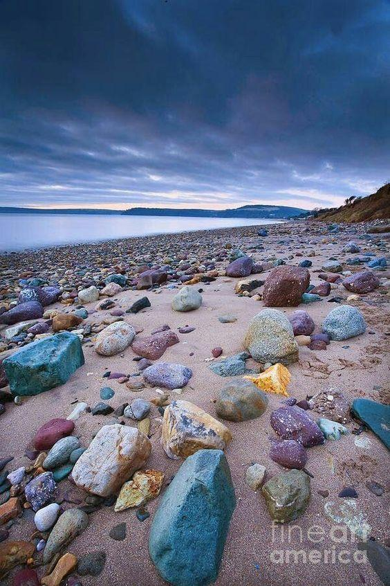 Amazing Coloured Stone of Woodstone Beach, Ireland by crenk