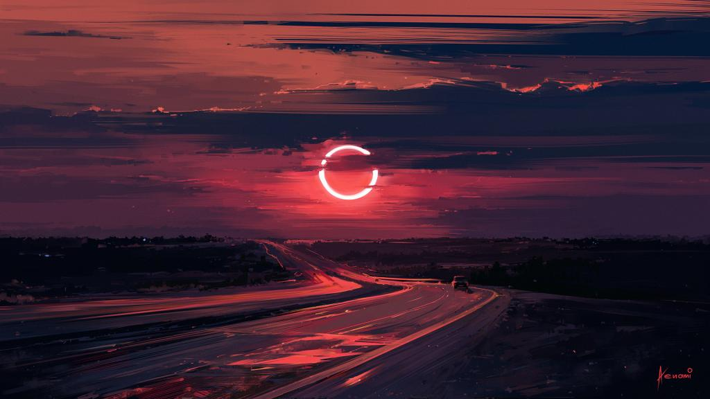 Alena Aenami - Eclipse - Digital Art - Landscape by crenk