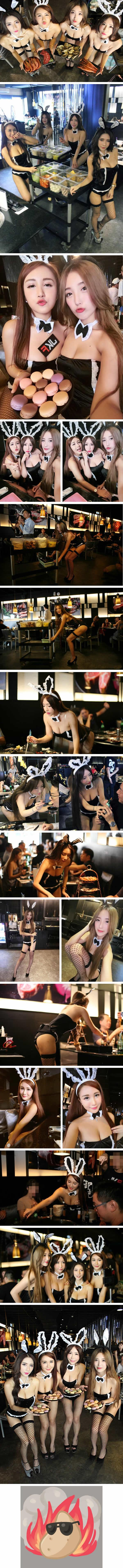 Restuarant in Taiwan Has Sexy Girls Waitress in Playboy Bunny Costumes by crenk