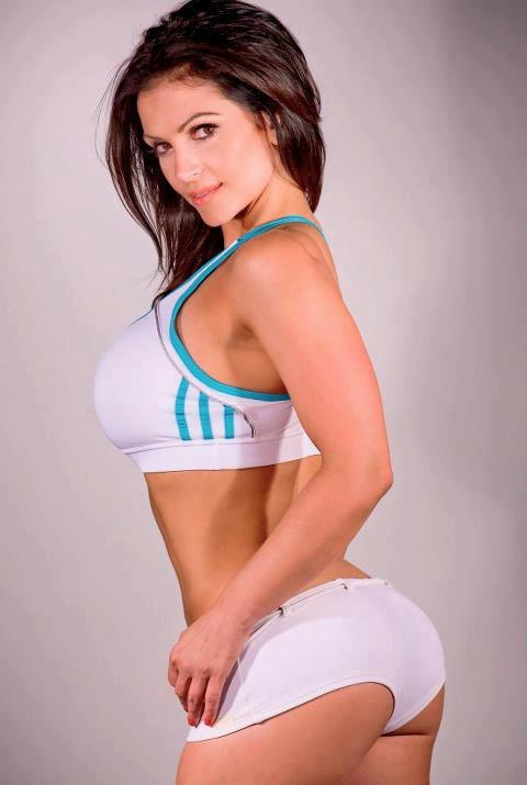 Denise Milani cute in an Adidas Fitness outfit - Tight Shorts by crenk