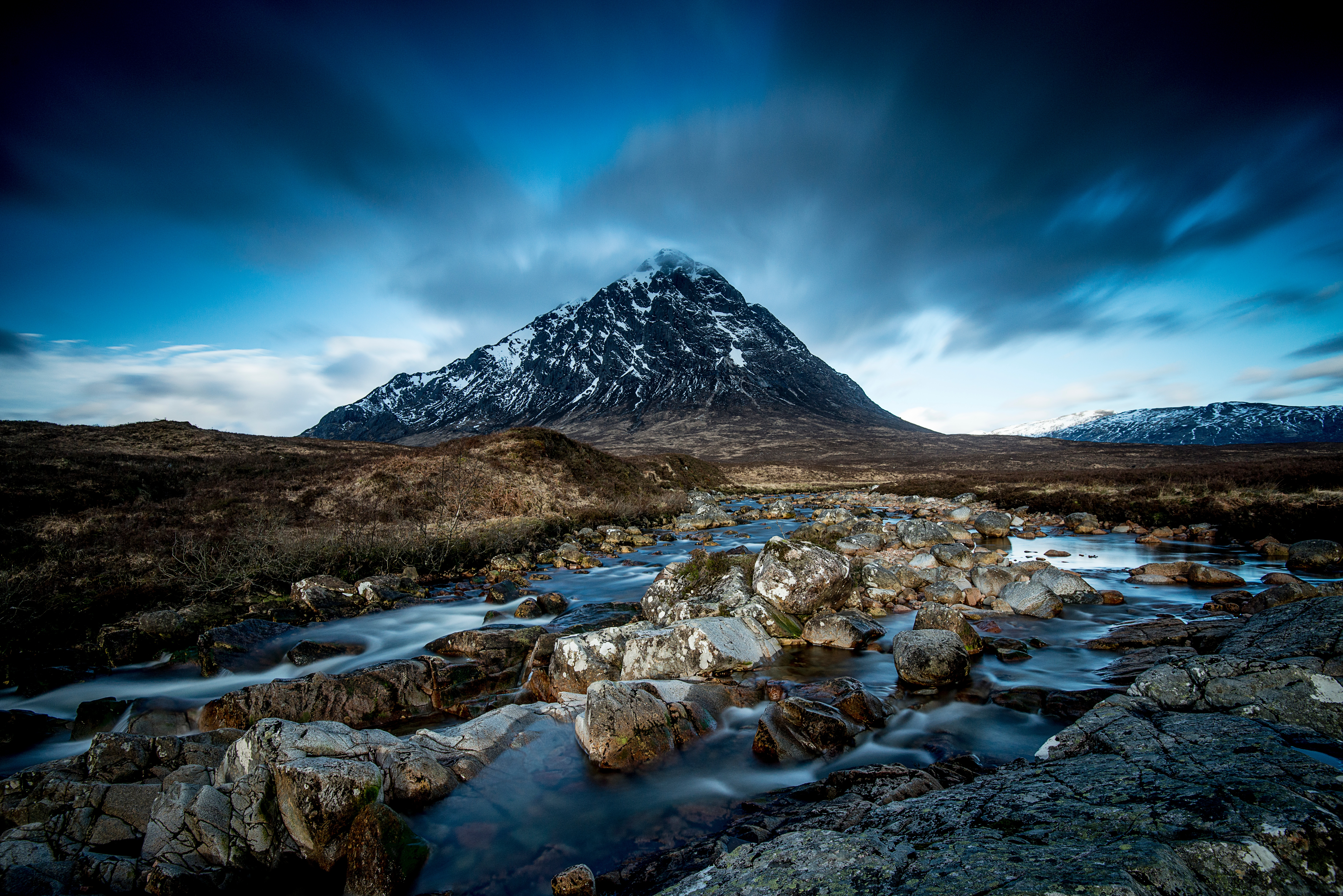 Amazing view across a moor and heading towards a mountain by crenk