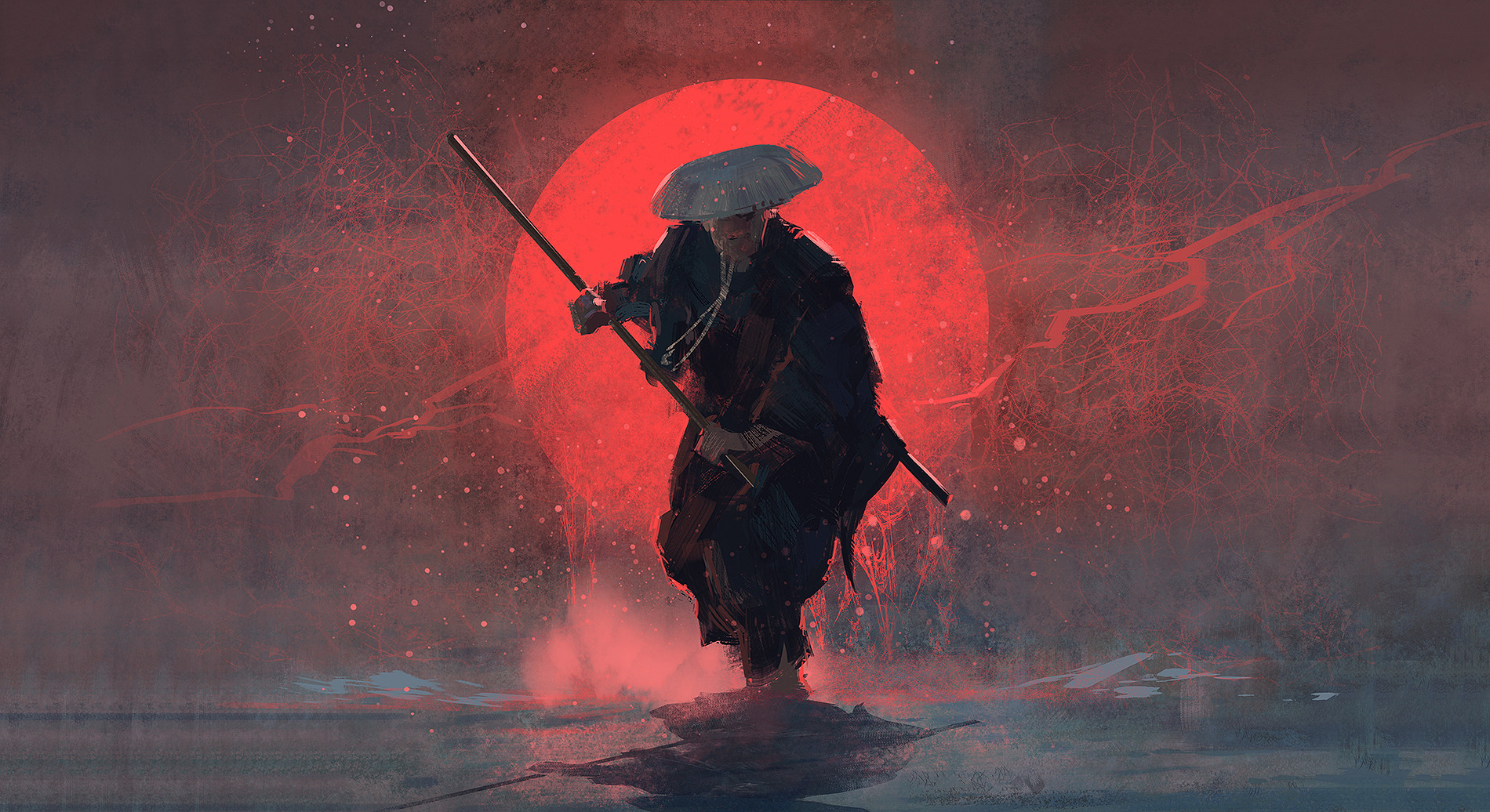 Joakim Ericsson Samurai Digital Artwork Wallpaper by crenk