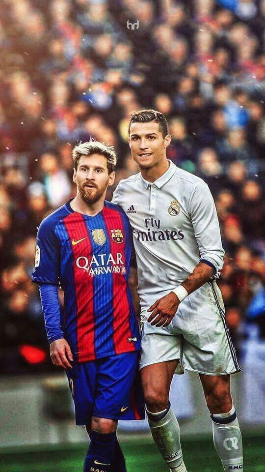 Cristiano Ronaldo and Lionel Messi - Two of the best having a hug by crenk