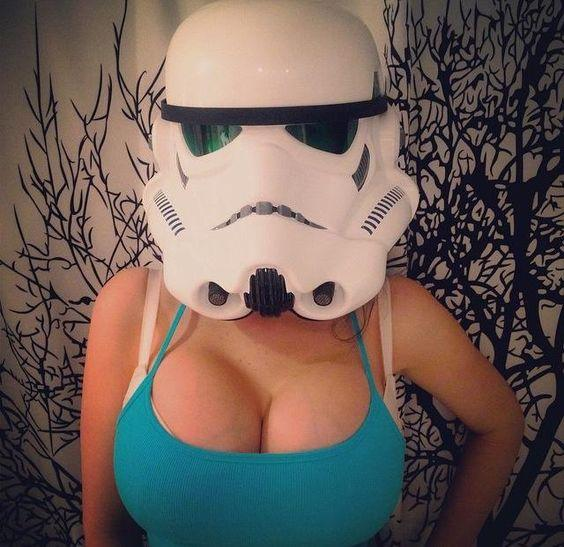 veronika black star wars cosplay cleavage by crenk