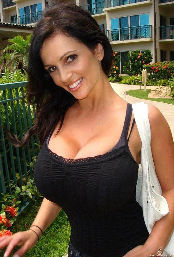 denise milani casual with huge cleavage by crenk