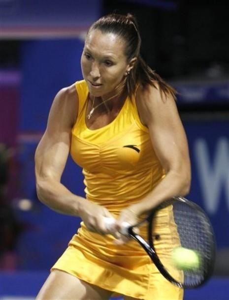 Jelena Jankovic playing at the Toray Pan Pacific Open at Ariake Colosseum in Tokyo, Japan by crenk