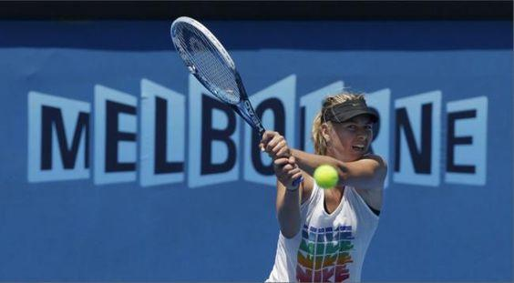Maria Sharapova Practicing for Australian Open 2013 - Backhand by crenk