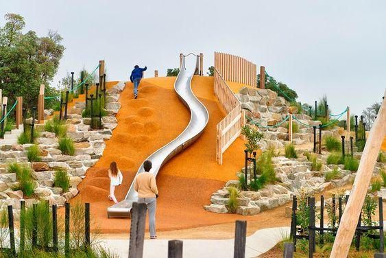 Rosebud Foreshore Park - Slide and Adventure Playground by crenk