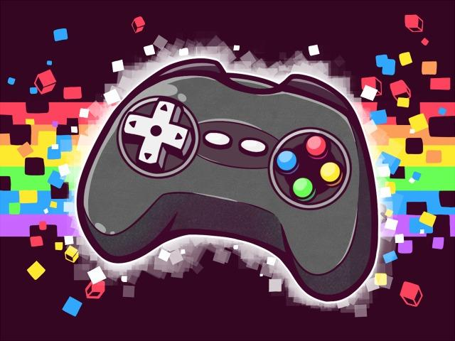 Classic Video Game Controller Wallpaper by crenk