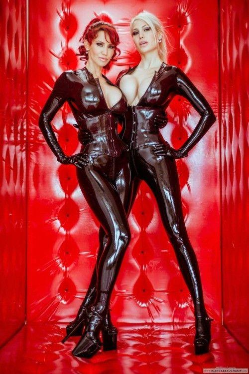 Bianca Beauchamp and Bella French looking hot in Black Latex by crenk