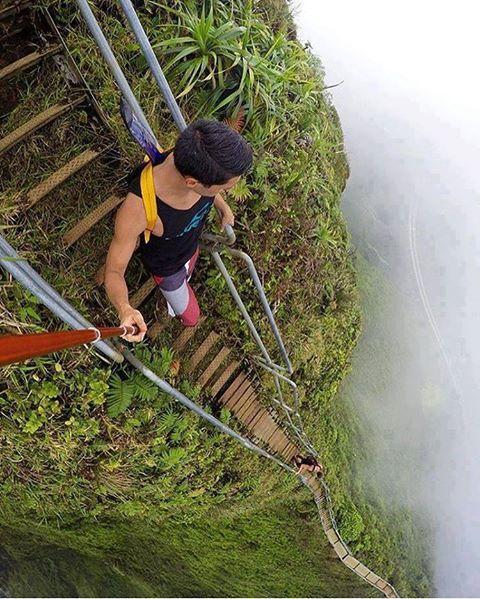 GoPro Photo of very steep steps going down by crenk