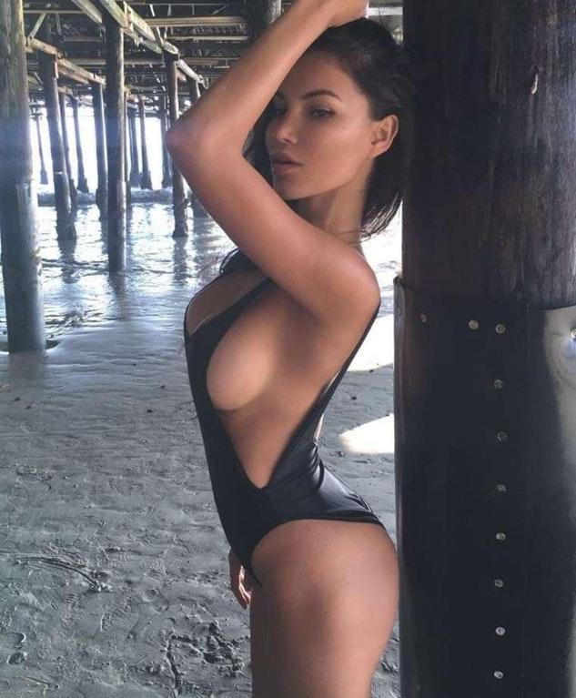 Svetlana Bilyalova - looking hot in swimsuit under a pier  by crenk
