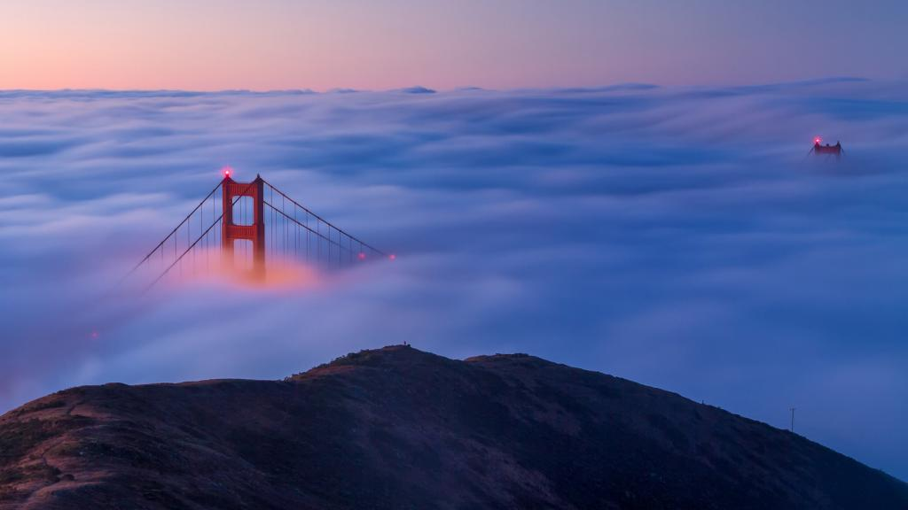 San Francisco - Golden Gate Bridge in the Clouds by crenk